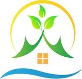 Зеленый дом природы Стоковое Фото