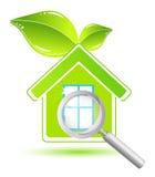 зеленый дом Стоковые Изображения