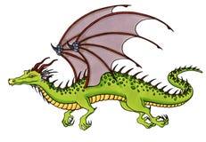 Зеленый дракон Стоковое Изображение RF