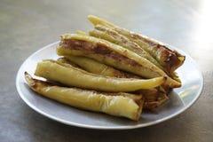 Зеленый заполненный перец семенил зажаренный свинину Стоковое Изображение