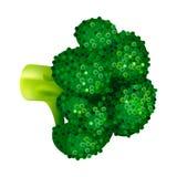 Зеленый значок брокколи, равновеликий стиль бесплатная иллюстрация