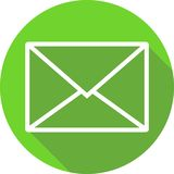 Зеленый значок сообщения иллюстрация вектора