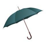 Зеленый зонтик на белой предпосылке Стоковое Изображение RF