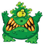 зеленый изверг ужасный Стоковое Изображение RF