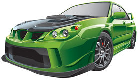 Зеленый изготовленный на заказ автомобиль бесплатная иллюстрация
