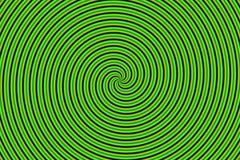 зеленый иллюзион hypno оптически иллюстрация вектора