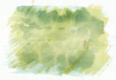 Зеленый и желтый горизонтальный градиент b акварели нарисованный рукой бесплатная иллюстрация