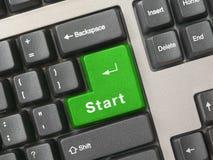 зеленый ключевой старт клавиатуры стоковые изображения rf