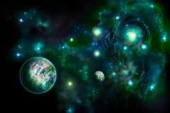 зеленый космос бесплатная иллюстрация