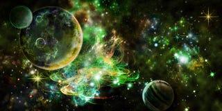 зеленый космос Стоковые Фото