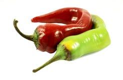 зеленый красный цвет горячего перца стоковая фотография rf