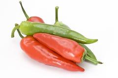 зеленый красный цвет peperoni Стоковое фото RF