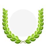 зеленый лавровый венок бесплатная иллюстрация