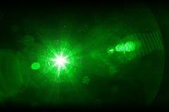зеленый лазерный луч Стоковое фото RF