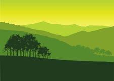 зеленый ландшафт Иллюстрация штока