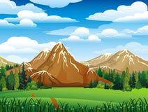 зеленый ландшафт Стоковые Фото