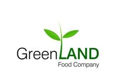 зеленый логос земли Стоковые Изображения