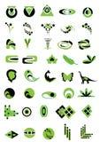 зеленый логос Бесплатная Иллюстрация