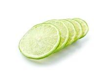 зеленый ломтик лимона Стоковое Изображение