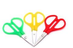 зеленый маленький красный желтый цвет ножниц Стоковые Изображения