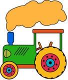 Зеленый маленький трактор игрушки иллюстрация вектора
