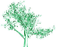 зеленый металлический вал Стоковое Изображение