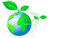 зеленый мир иллюстрация штока