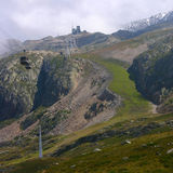 зеленый наклон лыжи Стоковые Изображения