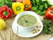 зеленый овощ супа Стоковая Фотография
