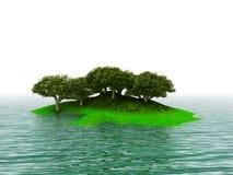 зеленый остров бесплатная иллюстрация
