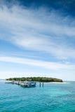 зеленый остров Стоковые Изображения