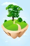 зеленый остров Стоковые Изображения RF