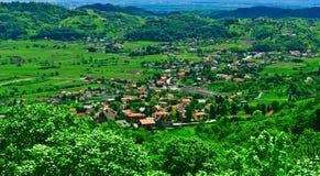 зеленый панорамный сельский взгляд места Стоковое Фото