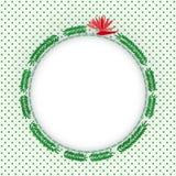 Зеленый папоротник выходит рамка фото круга иллюстрация вектора