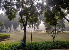 Зеленый парк в ludhiana Стоковое фото RF