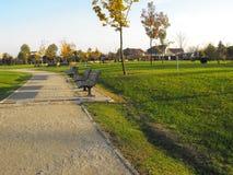 зеленый парк Стоковое фото RF