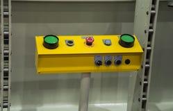 зеленый переключатель нажима кнопок Стоковое Изображение