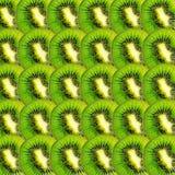 Зеленый плодоовощ кивиа отрезает текстуру Стоковая Фотография