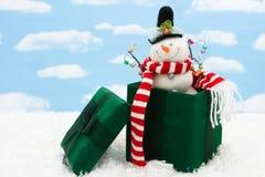 Зеленый подарок на рождество Стоковые Фотографии RF