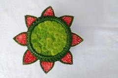 Зеленый поднос цветка Стоковые Фотографии RF
