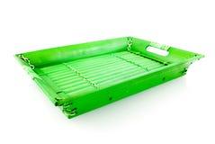 зеленый поднос Стоковые Фото