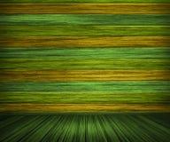 зеленый покрашенный интерьер деревянным Стоковые Фотографии RF