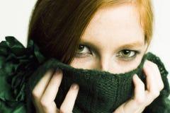 зеленый портрет Стоковое фото RF