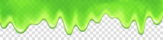 Зеленый потек шлама изолированный на прозрачной предпосылке иллюстрация вектора