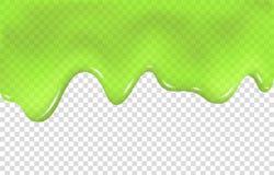 Зеленый потек шлама изолированный на прозрачной предпосылке бесплатная иллюстрация