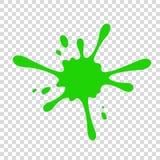 Зеленый потек шлама на прозрачной предпосылке иллюстрация вектора