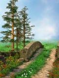 зеленый путь лужка стоковые фотографии rf
