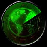 Зеленый радиолокатор бесплатная иллюстрация