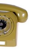 зеленый ретро телефон Стоковое Фото