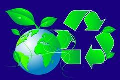 зеленый рециркулируя мир иллюстрация штока